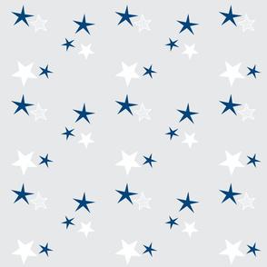 stars 7 gray - navy blue white
