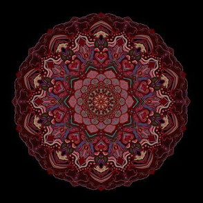 Mandala Project 285 | Deep Red Autumn