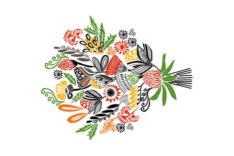 BOUQUET BOUNTY fabric by kirstenkatz on Spoonflower - custom fabric