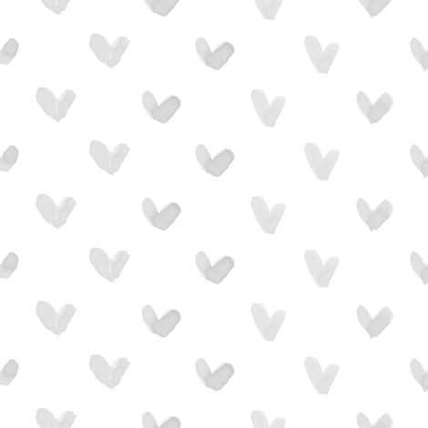 Love Hearts // Light Gray fabric by hipkiddesigns on Spoonflower - custom fabric