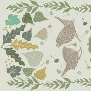 botanicalblockprintwithbirds