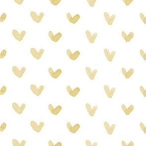 Love Hearts // Mustard Gold