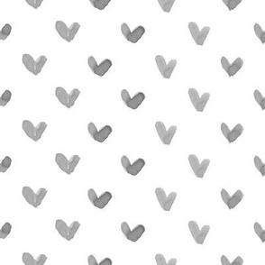 Love Hearts // Charcoal