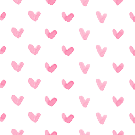 Love Hearts // Pink fabric by hipkiddesigns on Spoonflower - custom fabric