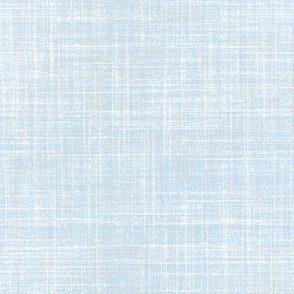 Winter Skies blue faux linen