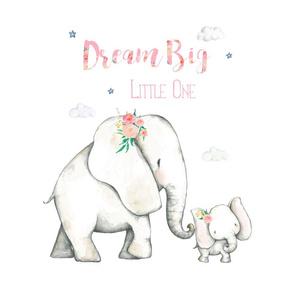 "15.5"" x 15.5"" inside 18"" / Dream Big Floral Elephant /"