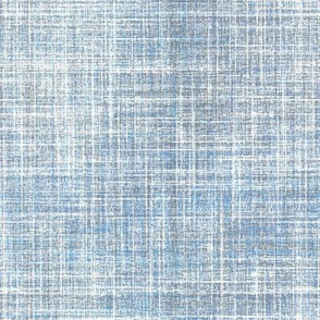 Blue Smoke faux linen