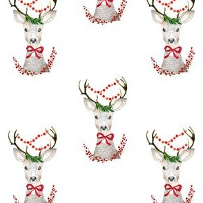 "4"" Holiday Fancy Deer"
