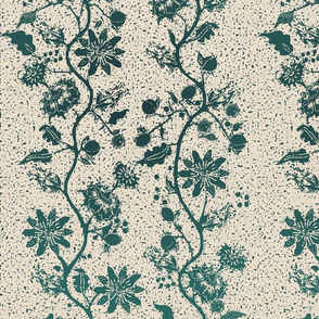 palampore wallpaper teal