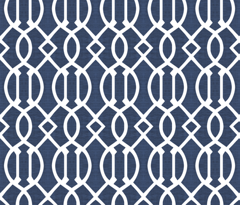 Shibori Blue Trellis fabric by brainsarepretty on Spoonflower - custom fabric