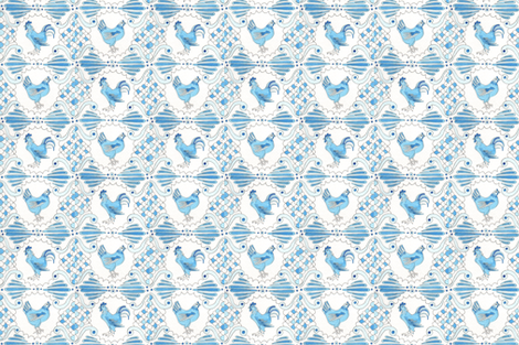 country chicken tile fabric by toodletownfarmprints on Spoonflower - custom fabric