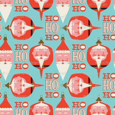 Santa ornaments ~ holiday blue