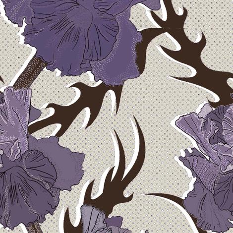 Light purple iris fabric by susiprint on Spoonflower - custom fabric