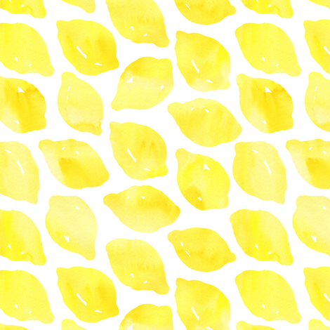 Watercolor lemons fabric by julia_dreams on Spoonflower - custom fabric