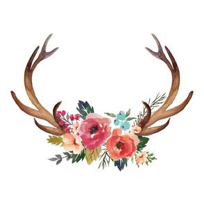 """18"""" Floral Deer Garden"""