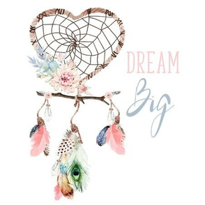 "9"" Dream Big / Love Dreaming Boho Style"