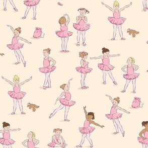 Miss Margot's Ballet Class (on cream)