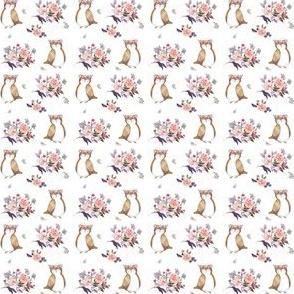 """1.5"""" Owl & Florals"""