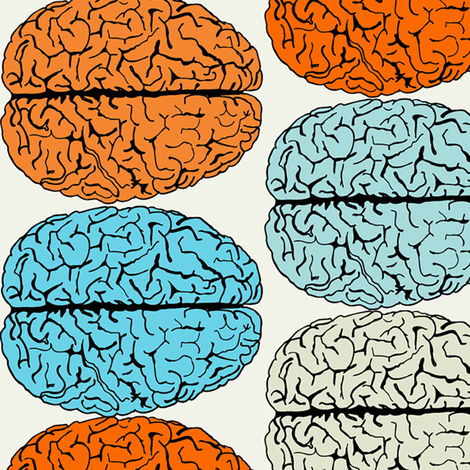 bigger brains 2 fabric by susiprint on Spoonflower - custom fabric