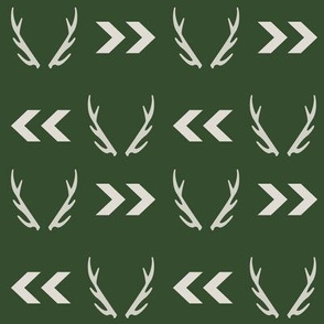 antlers boys room nursery hunting hunter outdoors hunter green