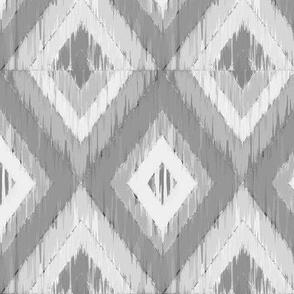 Slate Gray Ikat