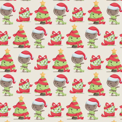 Christmas Scarves and Hats fabric by dorkydoodles on Spoonflower - custom fabric