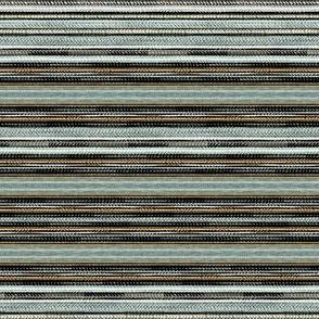 Seaweed Stripe  in Moss Green