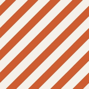 burnt orange diagonal stripe