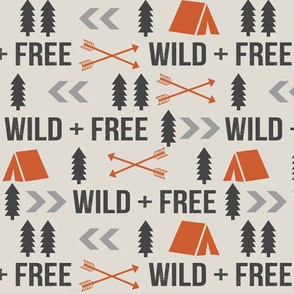 wild and free fabric outdoors camping nursery design