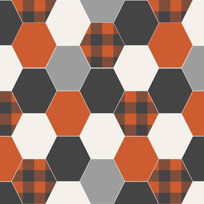 hexagon quilt fabric nursery design