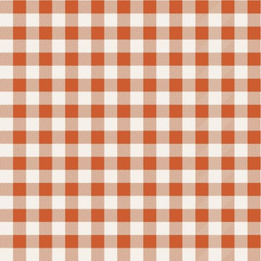 buffalo plaid orange and white