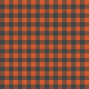 burnt orange and charcoal buffalo plaid fabric