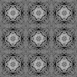 Ornate Flower motif, Slate gray