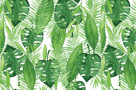 Tropical Leaves fabric by ariapaperie on Spoonflower - custom fabric