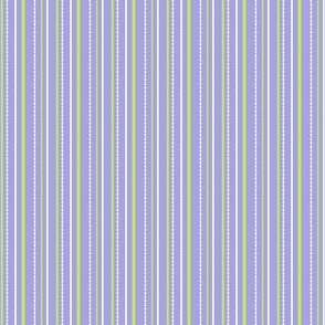 "More Meow ""Purrfect Stripes"" :  Violet Purple with Light Grass Green and White"