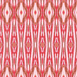 Red Tribal Ikat