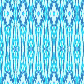 Blue Ikat Tribal