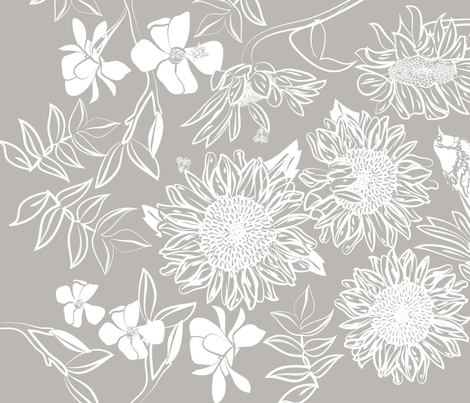 botanical_teatowel_ink_block_a fabric by colour_angel_by_kv on Spoonflower - custom fabric