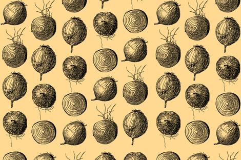 onions tea towel fabric by dafnag on Spoonflower - custom fabric