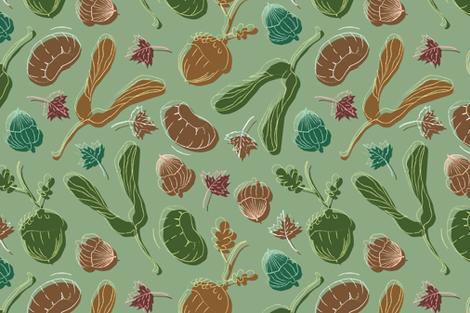 Woodland Botanical  fabric by appaloosa_designs on Spoonflower - custom fabric