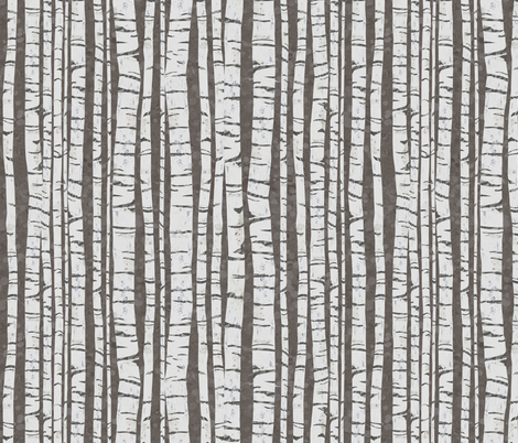 Birch Forest (large size) fabric by sarah_treu on Spoonflower - custom fabric