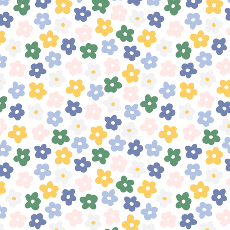 Flowers dots fabric by julia_dreams on Spoonflower - custom fabric