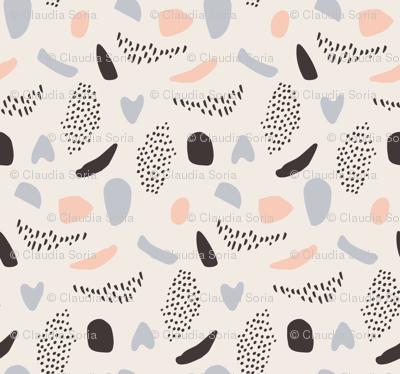 Shapes Beige - Lilac