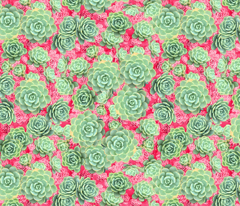 Sempervivum - live forever fabric by pearlposition on Spoonflower - custom fabric