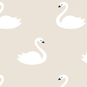 Swan - Beige background