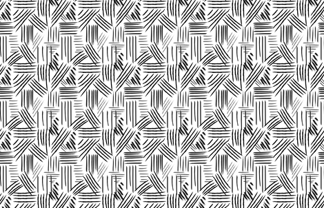 Hand drawn lines, brush strokes, Black and White, urban trends fabric by lub_by_lamb on Spoonflower - custom fabric