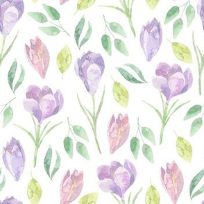 Spring watercolor flowers and florals