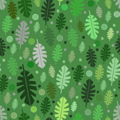 Green jungle  leaves