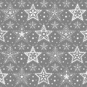 Patterned_christmas_stars_grey_and_white_hazel_fisher_creations_new_shop_thumb