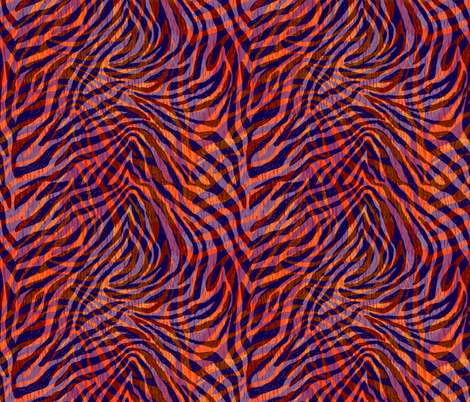 Psychedelic tiger fur fabric by marta_strausa on Spoonflower - custom fabric